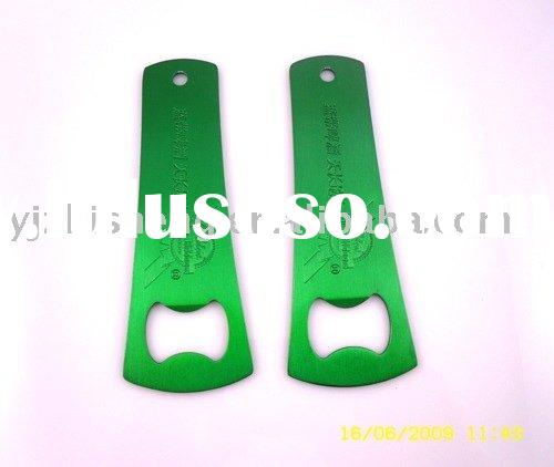 Beer bottle opener with anodized finish, colorful and shiny