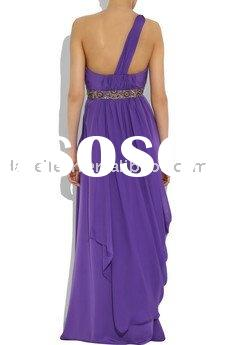 ER2132 One Shoulder Lovely Chiffon Evening Dress