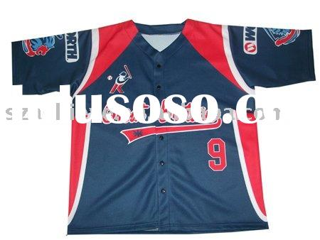 Fully sublimated baseball shirts,top quality baseball uniforms