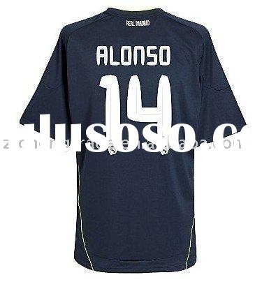 Hot Real Madrid 10/11 Away Football T Shirt ALONSO 14 For Wholesale