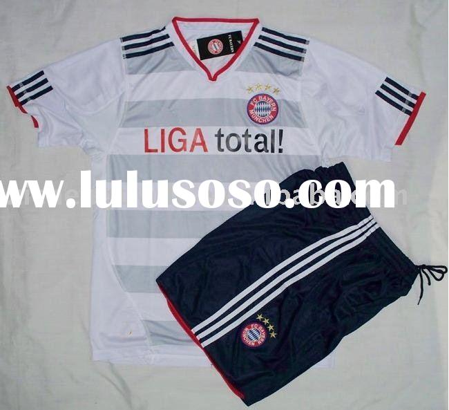 Hotsale Bayern Munich 10-11 Away Football Jersey Dresses White Color