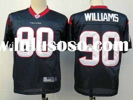 Houston Texans Black #90 WILLIAMS 100% Polyester Football Jerseys