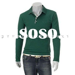 Knitted long sleeved polo shirt for women