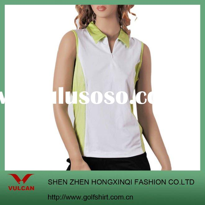 Ladies' Cool dry Fit Slim cut Sleeveless Golf POLO shirt