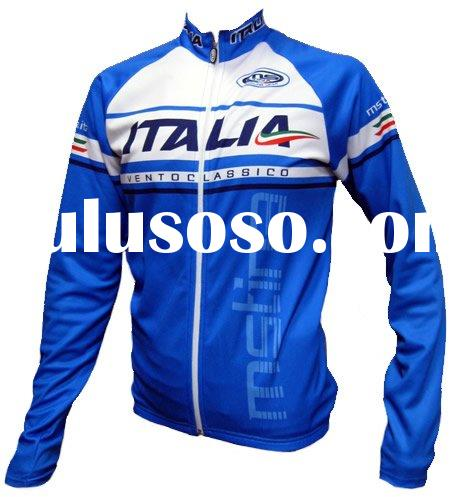 Long sleeve pro team cycle jerseys