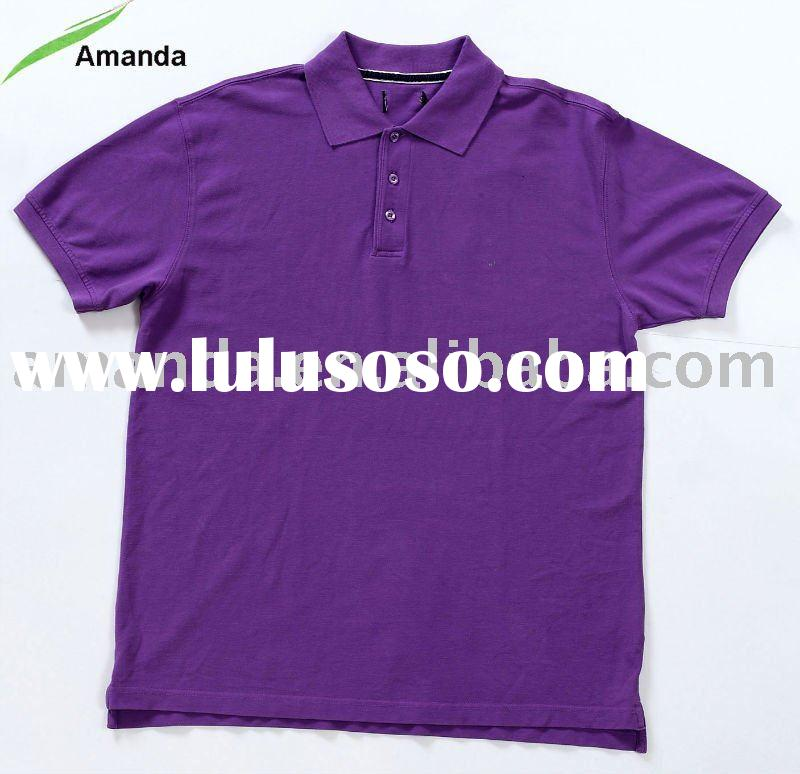 Men's polo shirt with small embroidery