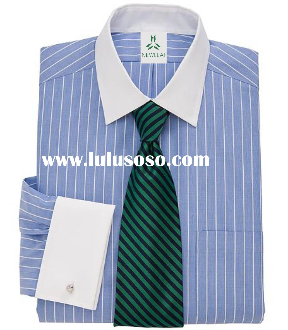 Grey dress shirt with white collar french cuff grey dress for Blue and white striped shirt with white collar