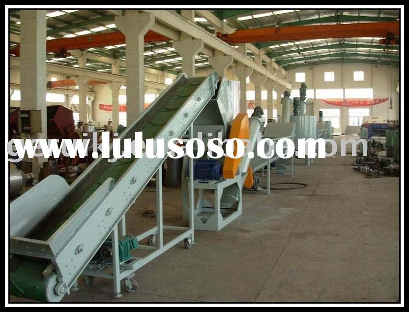 PET bottle flakes recycling, washing and cleaning equipment