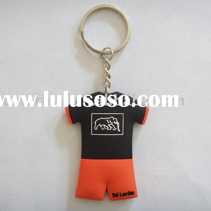 Soft PVC Key Chain,football T-shirt style