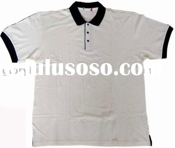 Supply mens bulk blank polo t shirts white and black