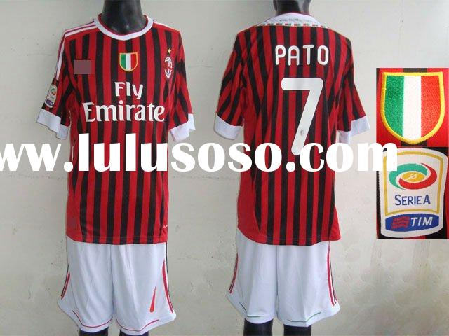 Top quality 2011-2012 Season Milan Home football shirts/soccer jerseys/sportsware