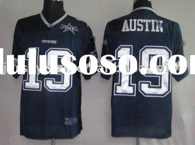 Wholesale 2010 Rugby Football Jersey Dallas Cowboys 19#Blue