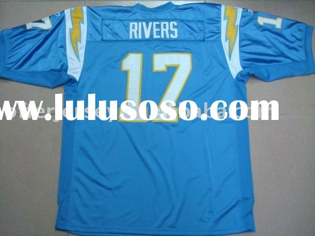 $22~$25 San Diego Chargers #17 Rivers blue Jersey sz 48 - 56 wholesale mixed order