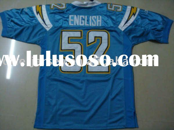 $22~$25 San Diego Chargers #52 Alex English blue Jersey sz 48 - 56 wholesale mixed order