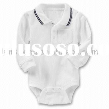 baby cotton long sleeve romper,baby wear,baby clothes