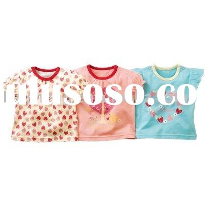 cotton short sleeve  baby's t-shirt ,baby clothing