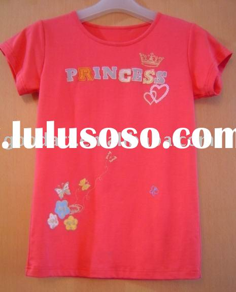 funny t shirts in cheaper price in embroidered yf-2593