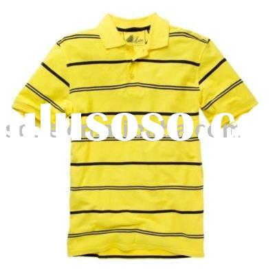 knitted,cotton,pique,striped,embroidery,casual polo t shirt with logo