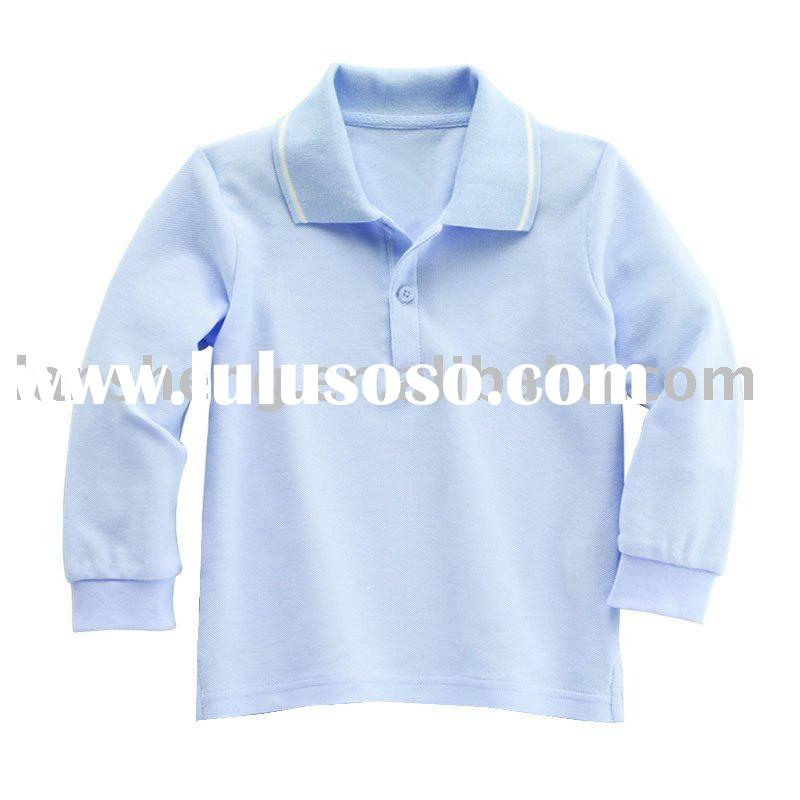 long sleeve new and high quality children polo shirt
