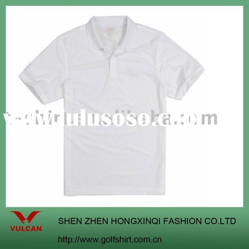 men's short sleeve polo shirt plain white