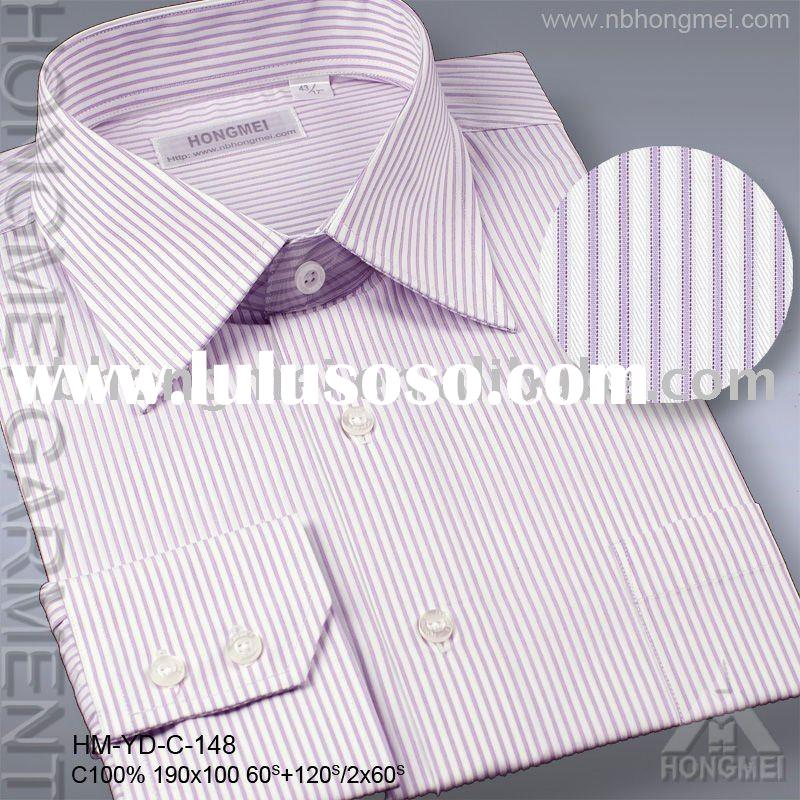 men's stripe dress shirt
