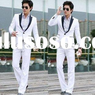 Slim Fit White Suits For Men