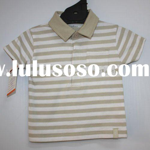 short sleeve 100% cotton polo baby T-shirt