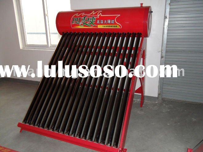 solar source hot water heating equipment