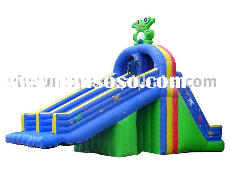 Inflatable water slide for kids play
