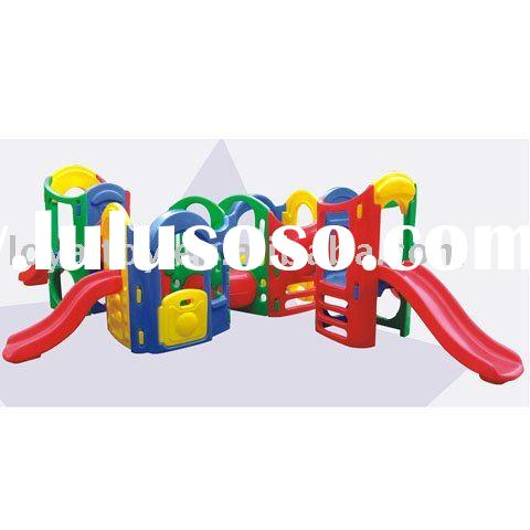 Safe kindergarten playground slides