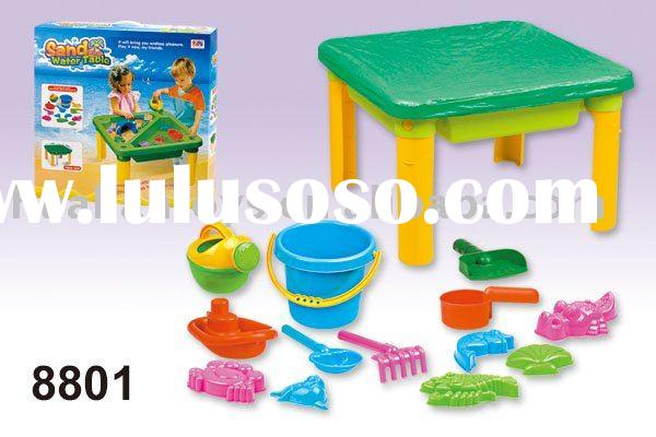 Sand and water table with 15pcs of accessories plastic sandbox