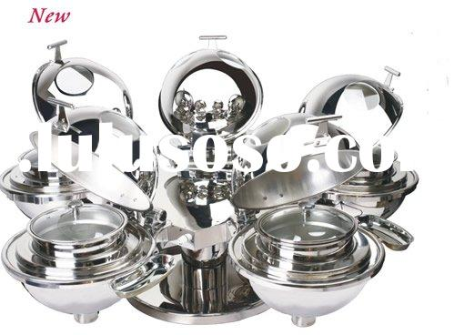 buffet equipment of Five-star BAVA sphere glass chafing dish