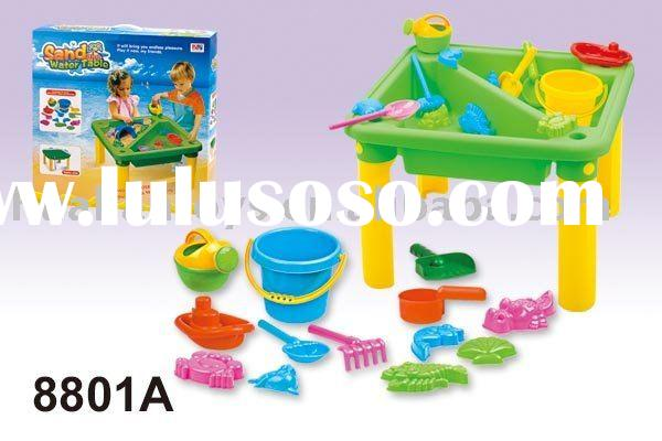 sand and water table with 14pcs accessories plastic sandbox