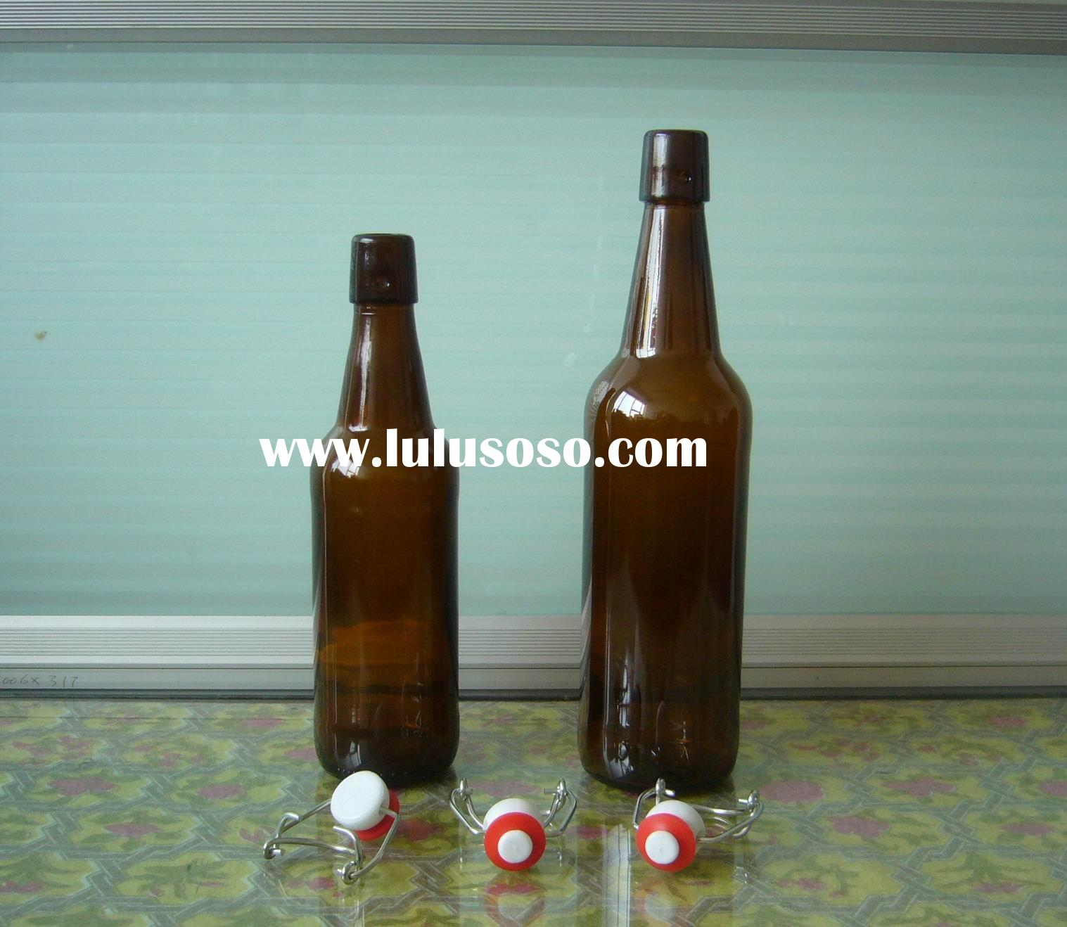 500ml,750ml amber beer bottles,glass bottles with swing cap (C81)