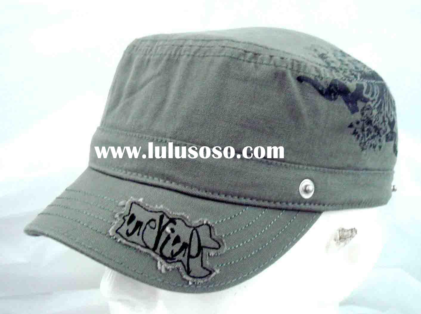 Army cap, military cap, fashion cap, promotional cap