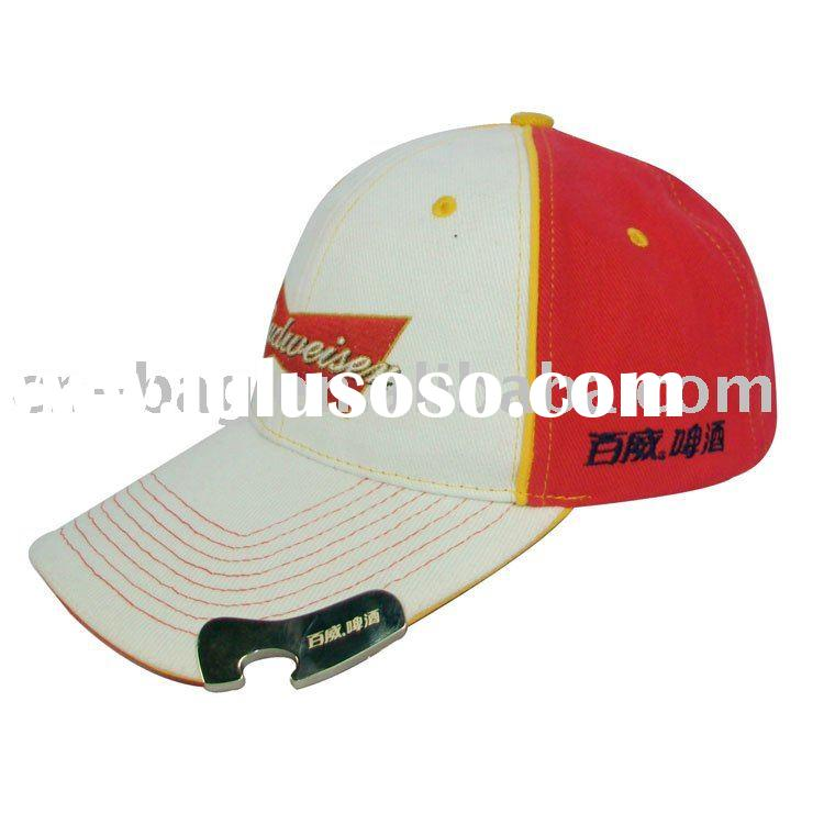 Budweiser beer cotton embroidered bottle opener baseball cap promotions gifts