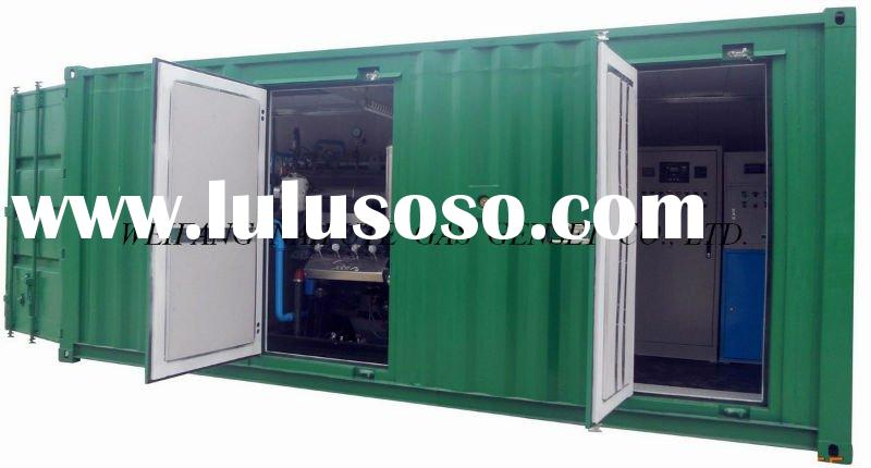 CHP 200kW Natural gas generator set /Biogas generator set with silent cabinet