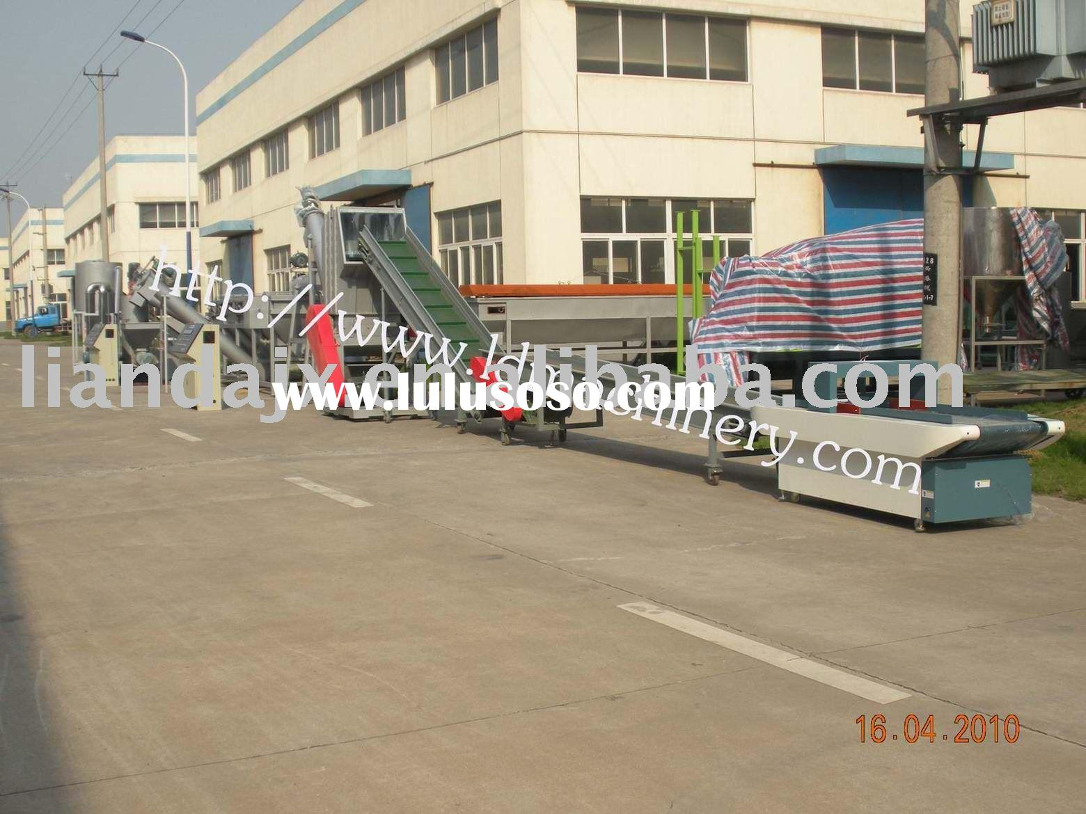 PET bottle flake washing production line/PET recycling line