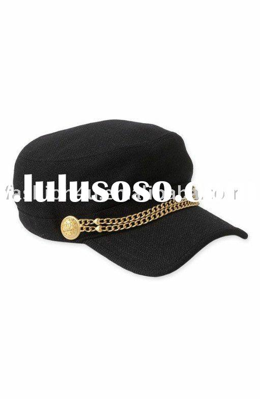 Wholesale Fashion Ladies Winter Hats And Caps Cotton Black/Gray