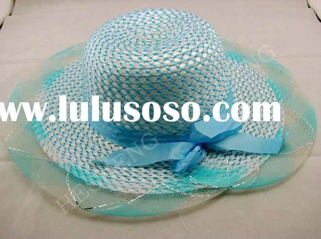 ladies high fashion hats/wedding hats for women/fashion straw paper hats