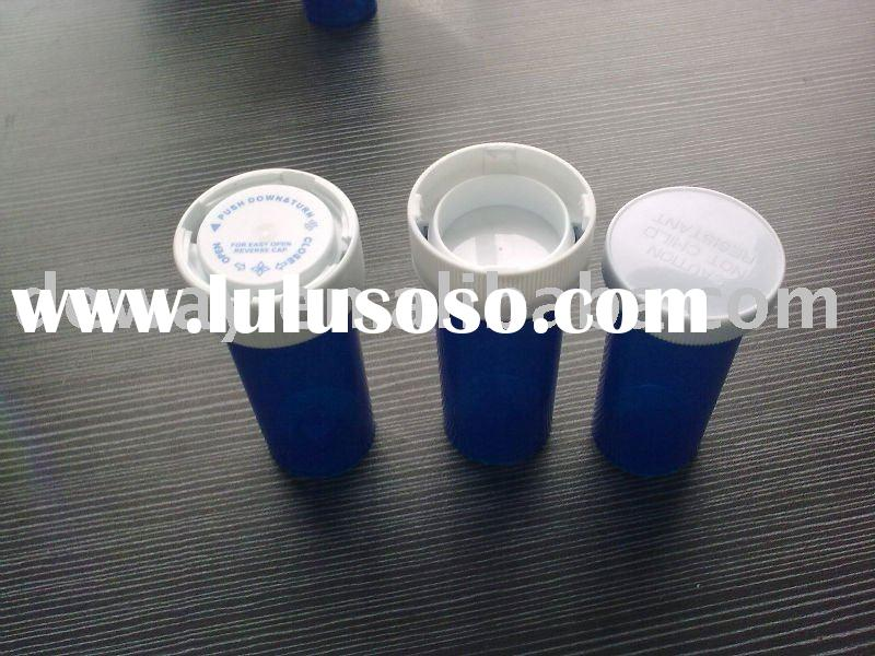 plastic vials  cap one side for snap another side for reversible