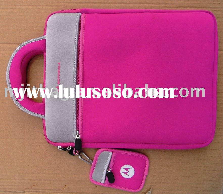 "10.2"" Laptop Bag ( hot pink color MJ-NB048), PU leather Laptop Sleeve, Computer Bag"