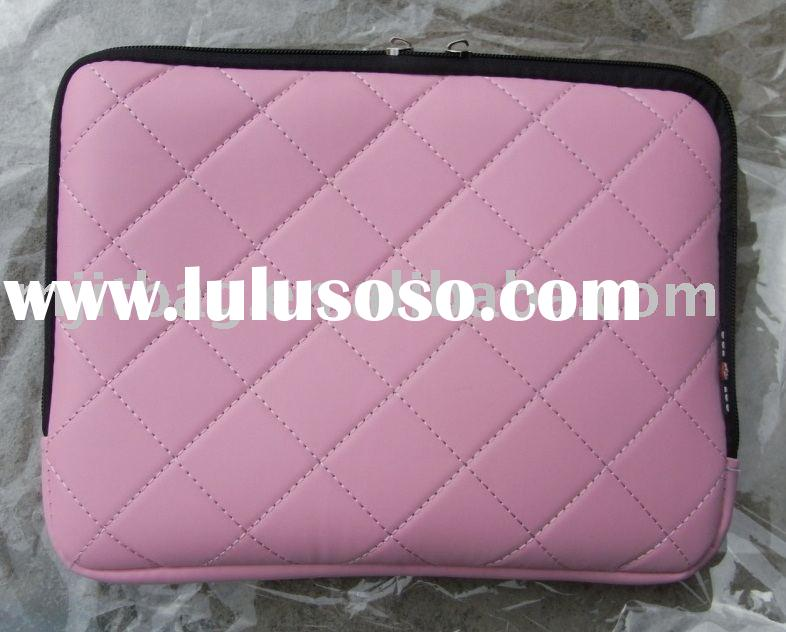"13.3"" Laptop Bag (pink color MJ-PUB003), PU leather Laptop Sleeve, Computer Bag"