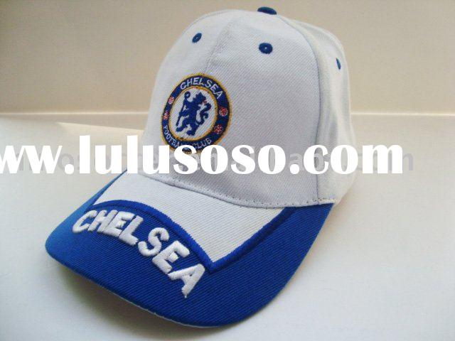 Brand new 100% cotton Chelsea white sports cap/embroidery cap wholesale/retail+free shipping