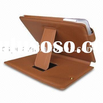 Brown Leather Flip Sleeve Case Cover Leg stand for iPad