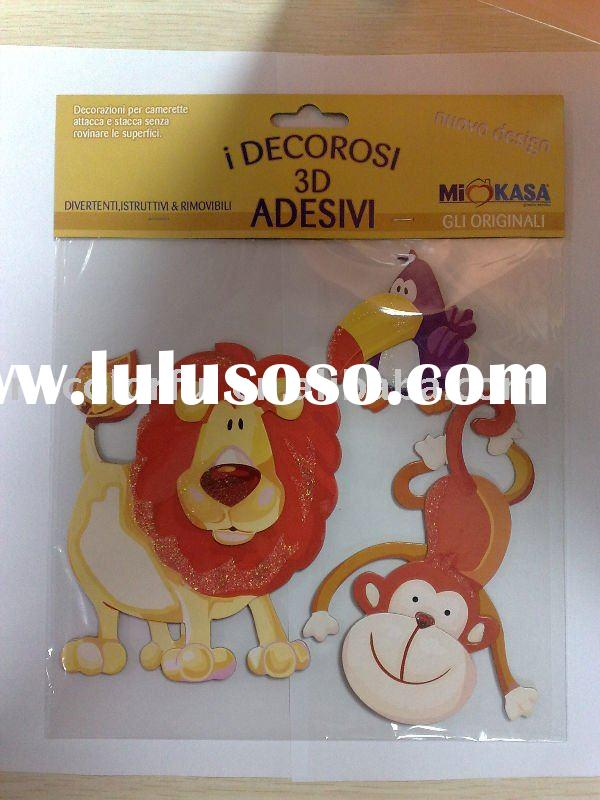 Cartoon, Adhesive 3D Sticker