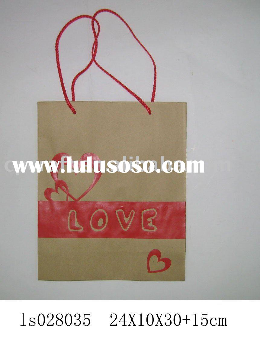 Craft art valentine decoration gift paper bag