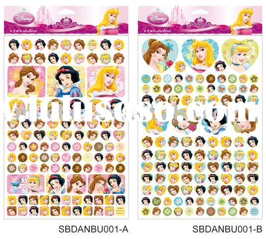 Disney Princess Paper Sticker (for Disney licensee only)