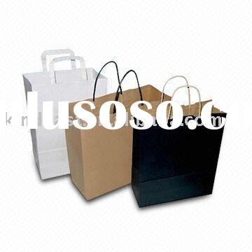 Fashionable Endurable Paper Bag, Available in White, Brown, and Black Colors(KV-188)