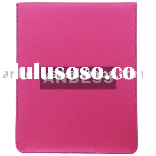 Hot Pink Leather Pouch Case for iPad